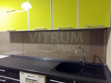 Прозрачный фартук из закаленного стекла 6 мм + обои Vitrum Studio Прозрачные скинали в Иркутске ул. Поленова